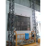 10m berkuasa aluminium tali digantung platform zlp1000 satu fasa 2 * 2.2kw
