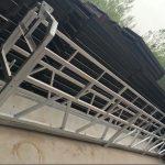 zlp630 / 800 ll membentuk aloi aluminium, pembinaan keluli yang digantung mengangkat platform bekerja pada tingkap bangunan