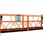 2.5mx 3 bahagian 1000kg digantung platform akses mengangkat kelajuan 8-10 m / min